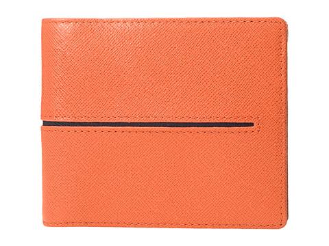BUGATCHI Saffiano Two-Tone Wallet