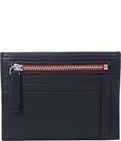 BUGATCHI - Saffiano Two-Tone Zip Card Case