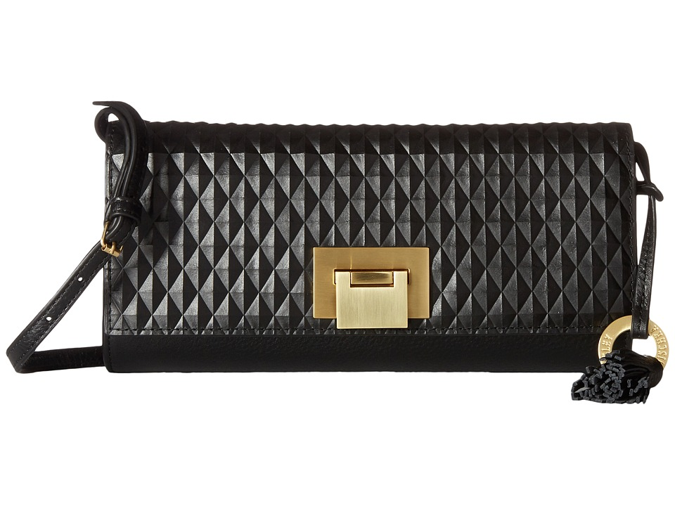 Badgley Mischka Blanche Clutch (Black) Clutch Handbags