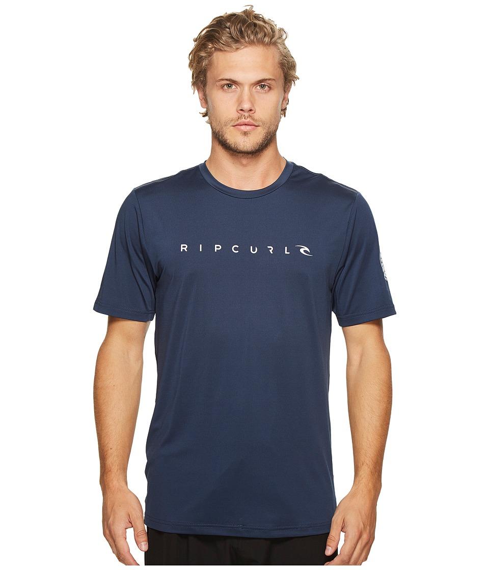 Rip Curl Dawn Patrol Surf Tee Short Sleeve (Navy) Men