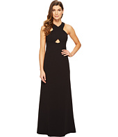 Aidan Mattox - Scuba Crepe Long Gown with Cut Out Detail and Open Back