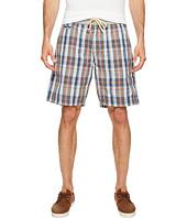True Grit - American Plaid Drawsting Shorts w/ Knit Waistband