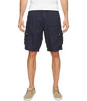 True Grit - Textured Linen Cargo Shorts