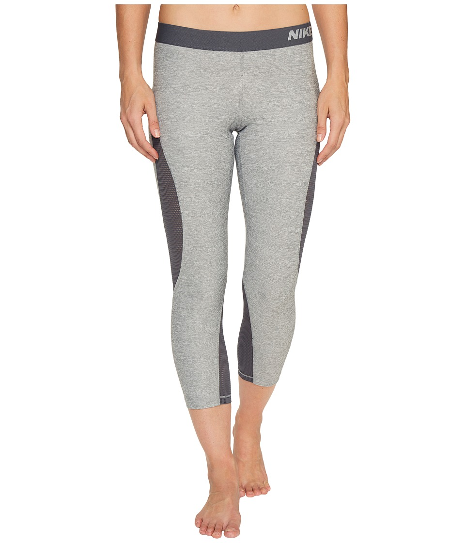 Nike Pro Hypercool Training Capri (Dark Grey Heather/Dark Grey/Pure Platinum) Women