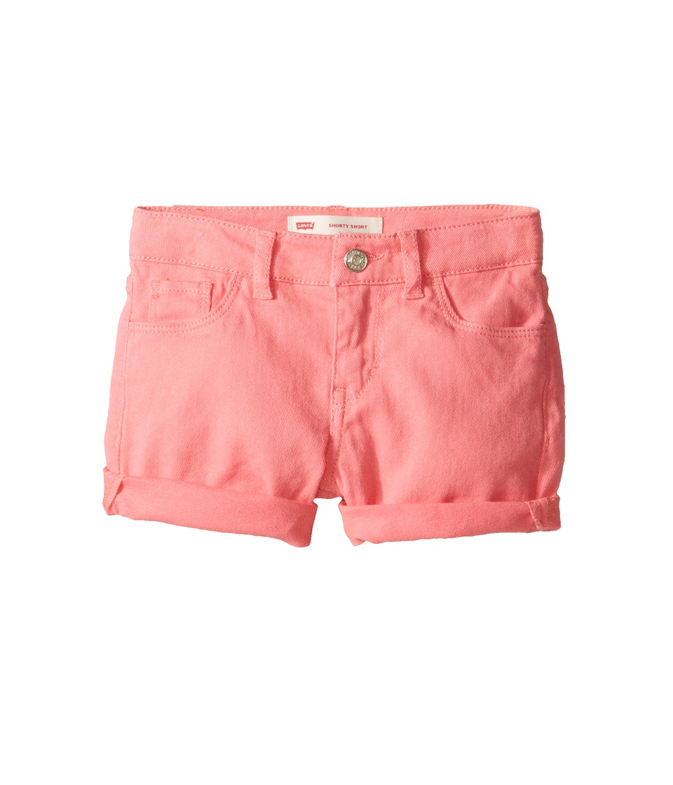 Levis(r) Kids - Summer Love Midi Short (Little Kids) (Strawberry Pink) Girls Shorts