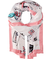 Kate Spade New York - Travel Scrapbook Oblong Scarf