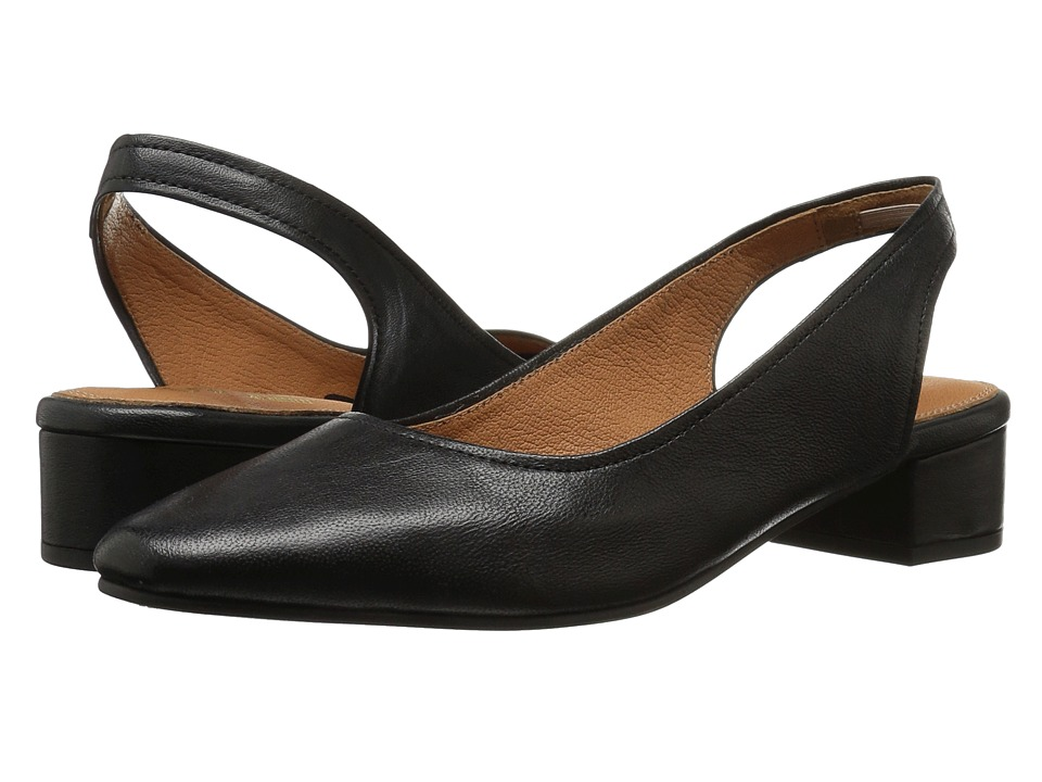 1950s Style Shoes Seychelles - Electric Black Leather Womens 1-2 inch heel Shoes $65.99 AT vintagedancer.com