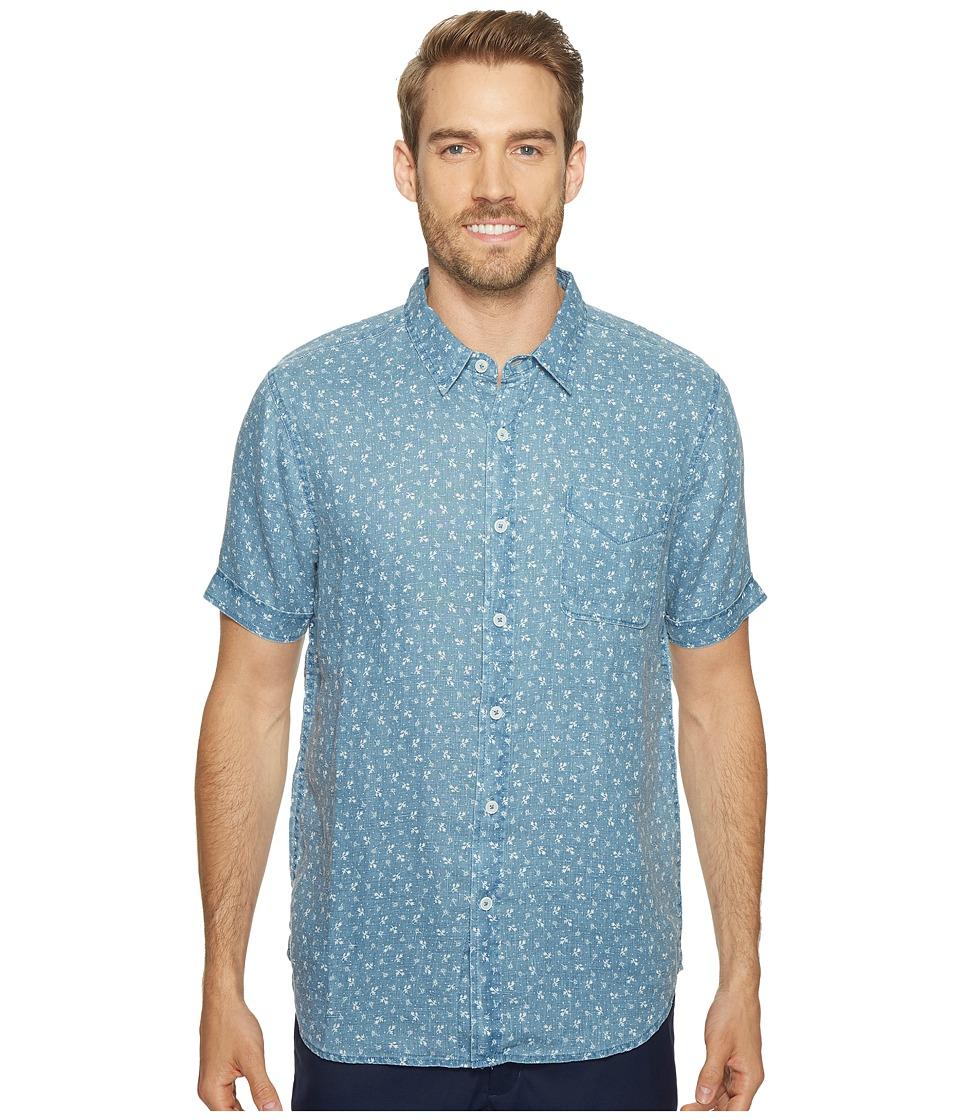 True Grit - Floral Lux Linen Short Sleeve One-Pocket Shirt