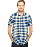 True Grit - Beach Checks Short Sleeve One-Pocket Shirt Real Indigo Yarns