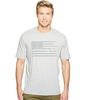 True Grit - American Flag Vintage Screen Print Short Sleeve Tee Combed Cotton