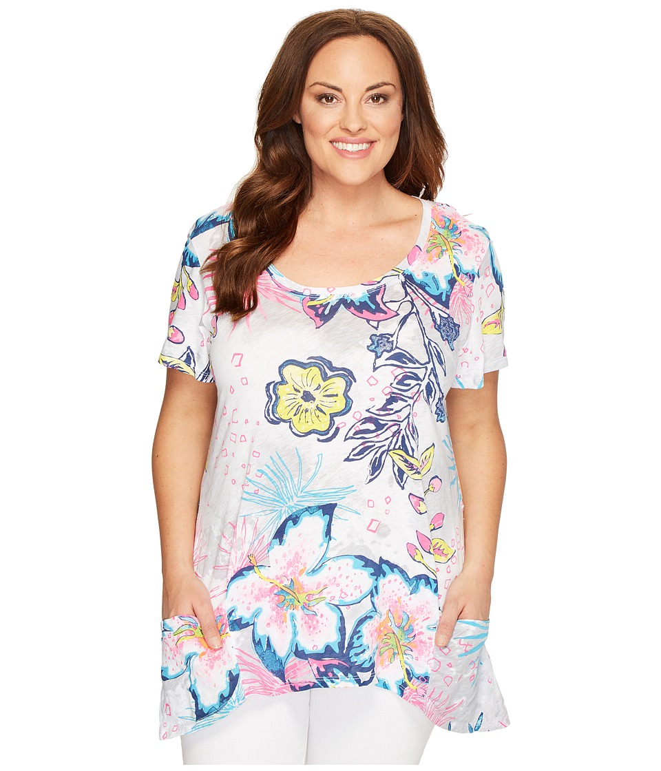 Extra Fresh by Fresh Produce Extra Fresh by Fresh Produce - Plus Size Cabana Bright Twin Peaks Top