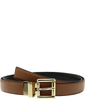MICHAEL Michael Kors - 25mm Feather Edge Reversible Smooth to Croco Belt