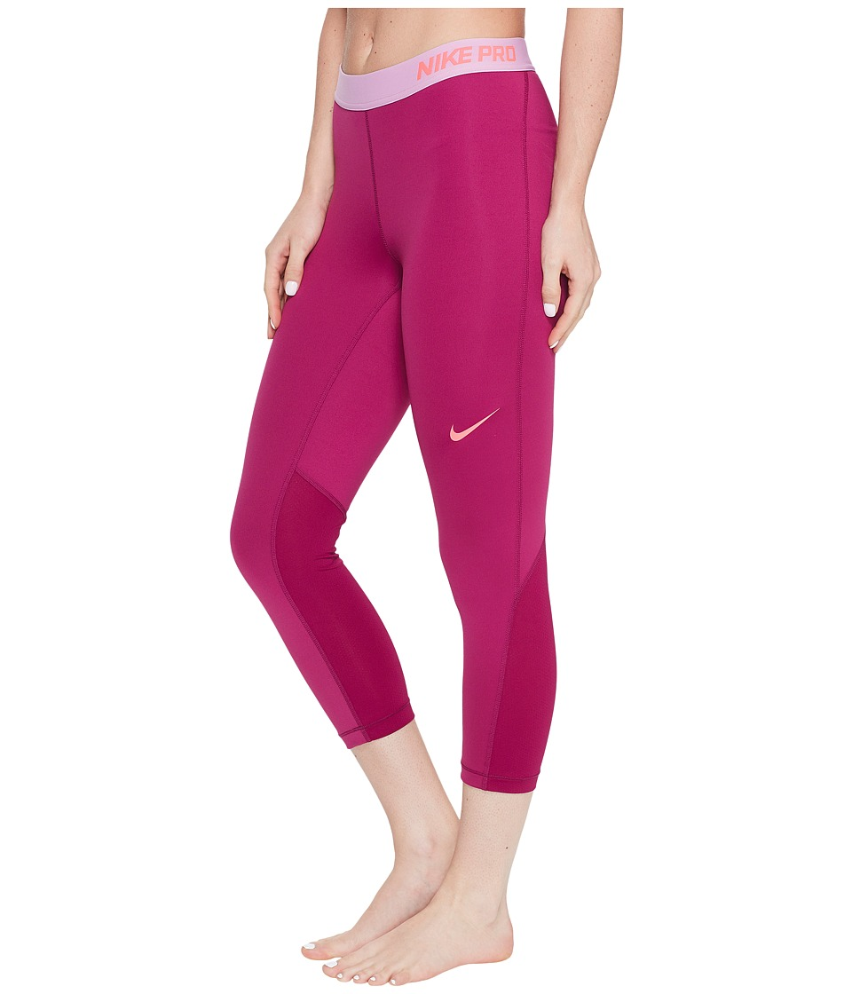 Nike Pro Cool Capris (True Berry/Racer Pink) Women
