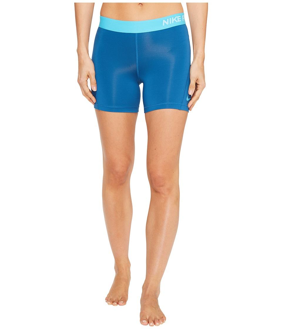 Nike Pro 5 Cool Training Short (Industrial Blue/Chlorine Blue) Women