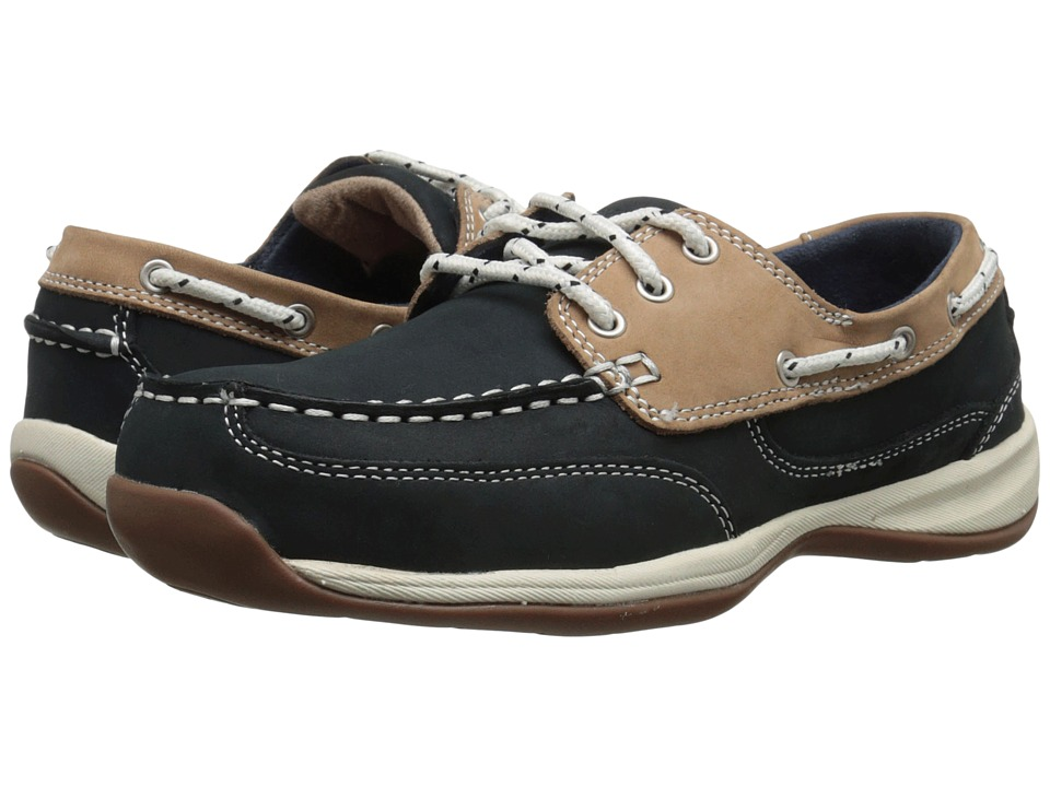 Rockport Works - Sailing Club (Navy Blue/Tan) Womens Work Boots