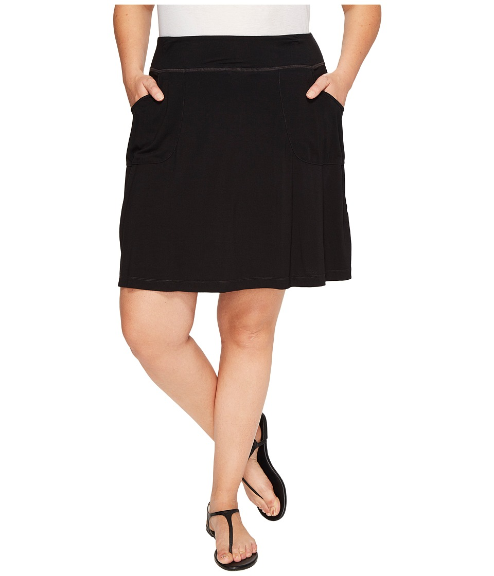 Extra Fresh by Fresh Produce - Plus Size City Skort (Black) Womens Skort