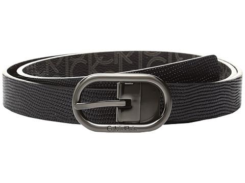 Calvin Klein 25mm Reversible Embossed Lizard To Logo PVC Belt
