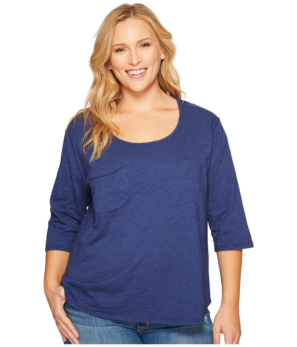 Extra Fresh by Fresh Produce - Plus Size Jetty Top (Moonlight Blue) Womens Clothing