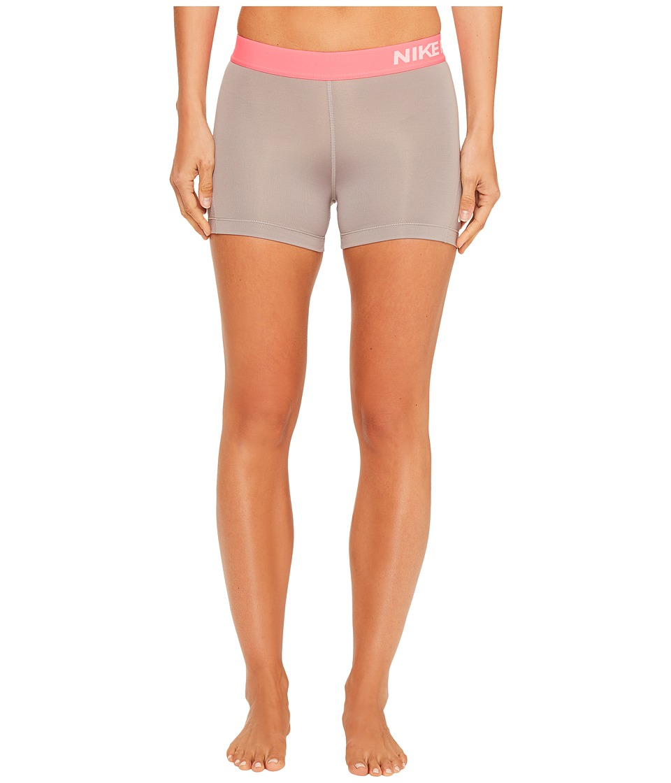 Nike Pro 3 Cool Compression Training Short (Dust/Racer Pink/White) Women