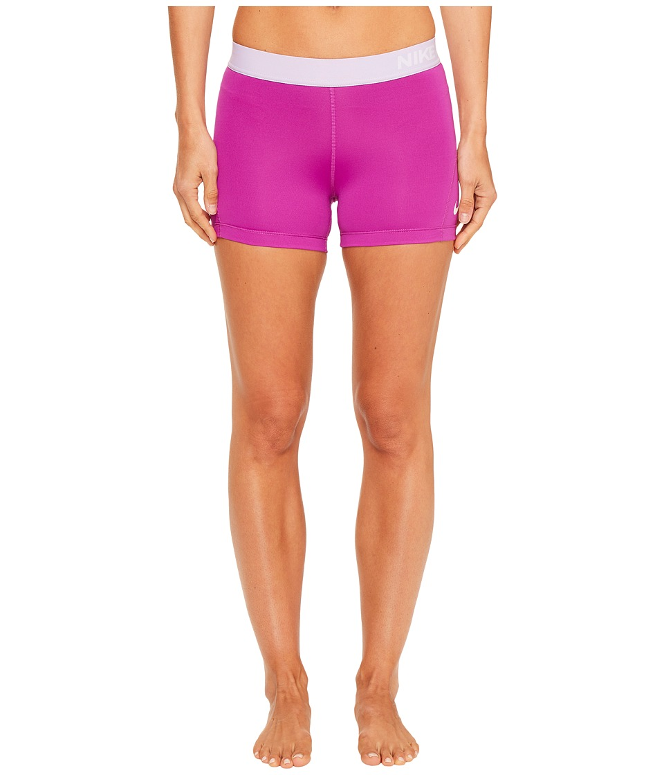 Nike Pro 3 Cool Compression Training Short (Vivid Purple/Hydrangeas/White) Women
