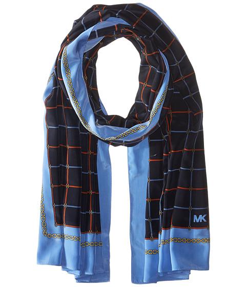 MICHAEL Michael Kors Multi Dressage Oblong Scarf - Navy/Blue/Orange