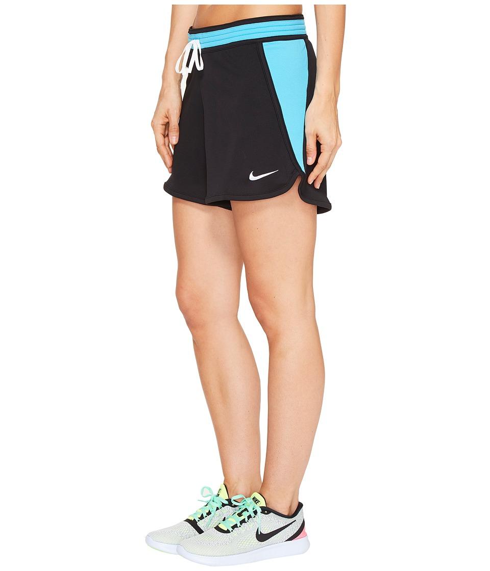 Nike Dry Infiknit Short (Black/Chlorine Blue/White/White) Women