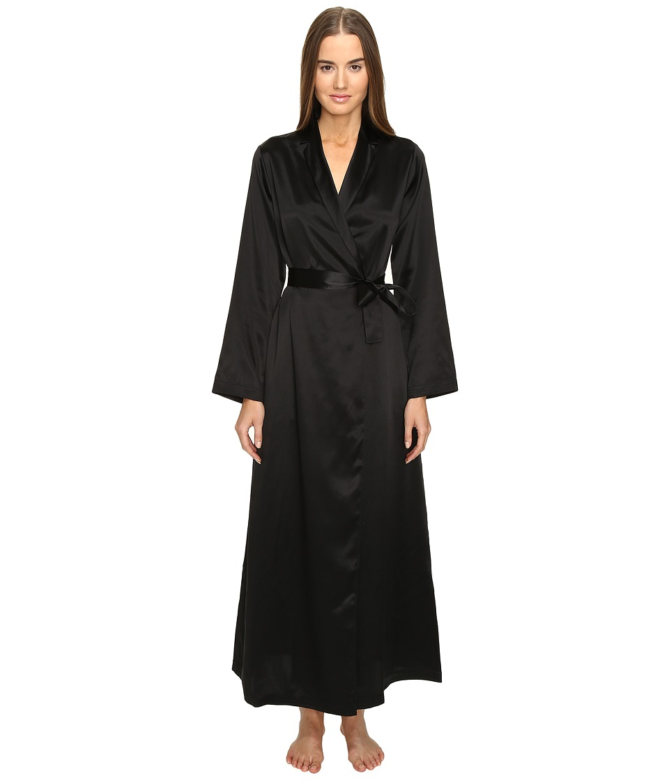 La Perla - Silk Long Robe (Black) Womens Robe
