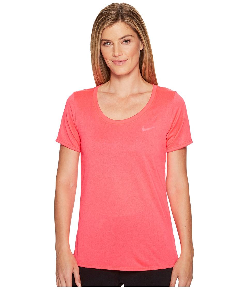 Nike Dry Training T-Shirt (Racer Pink/Racer Pink) Women