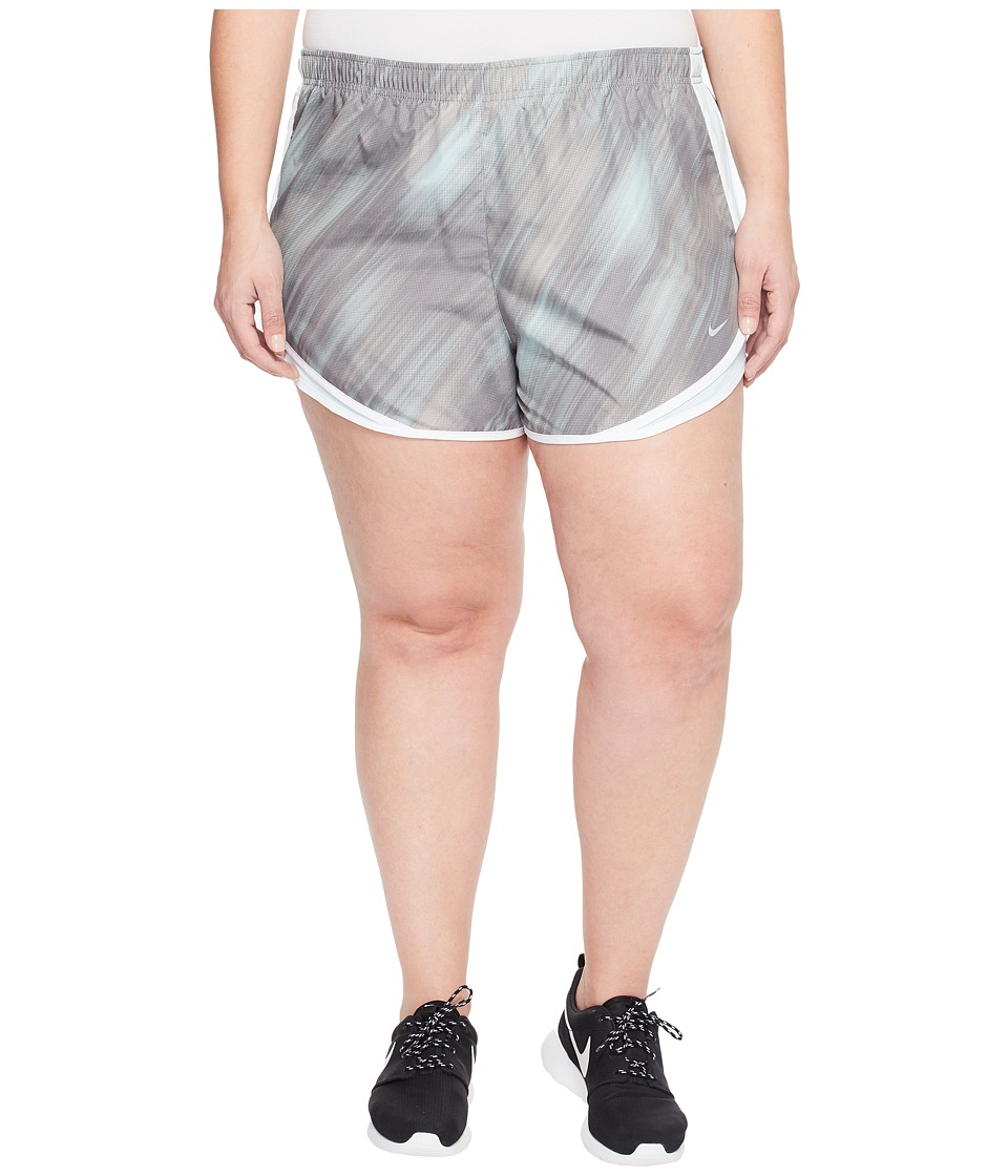 Nike Dry Tempo 3 Print Running Short (Size 1X-3X) (Dust/Glacier Blue/White/Wolf Grey) Women