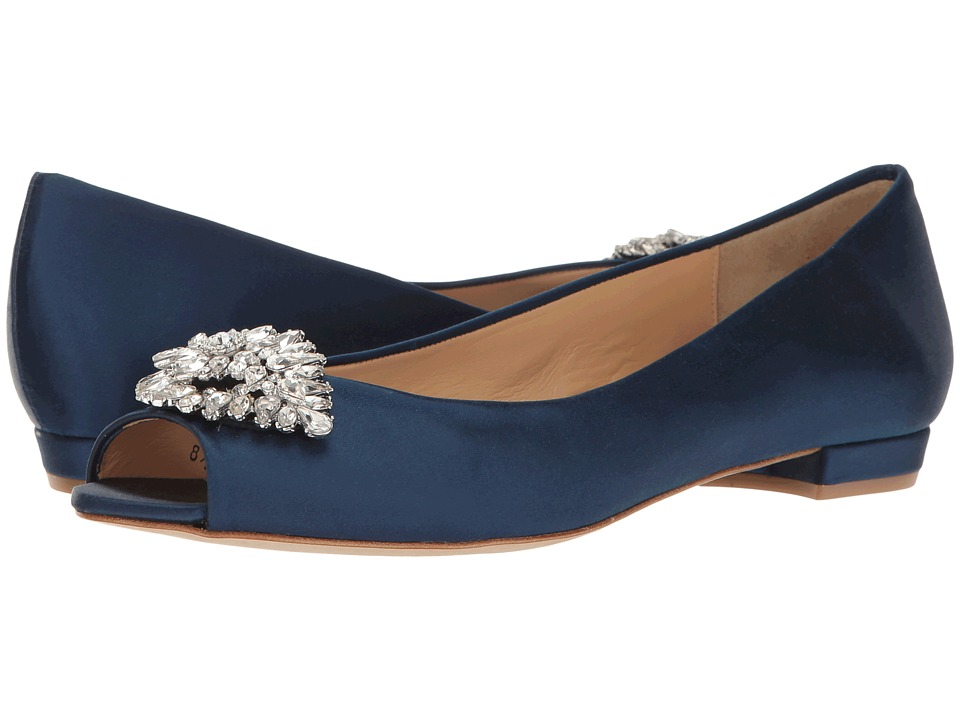 Badgley Mischka Taft (Navy Satin) Women
