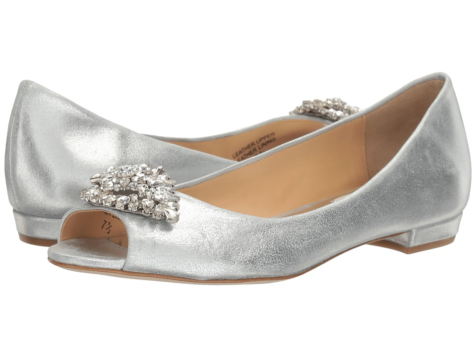 Badgley Mischka Taft (Silver Metallic Suede) Women