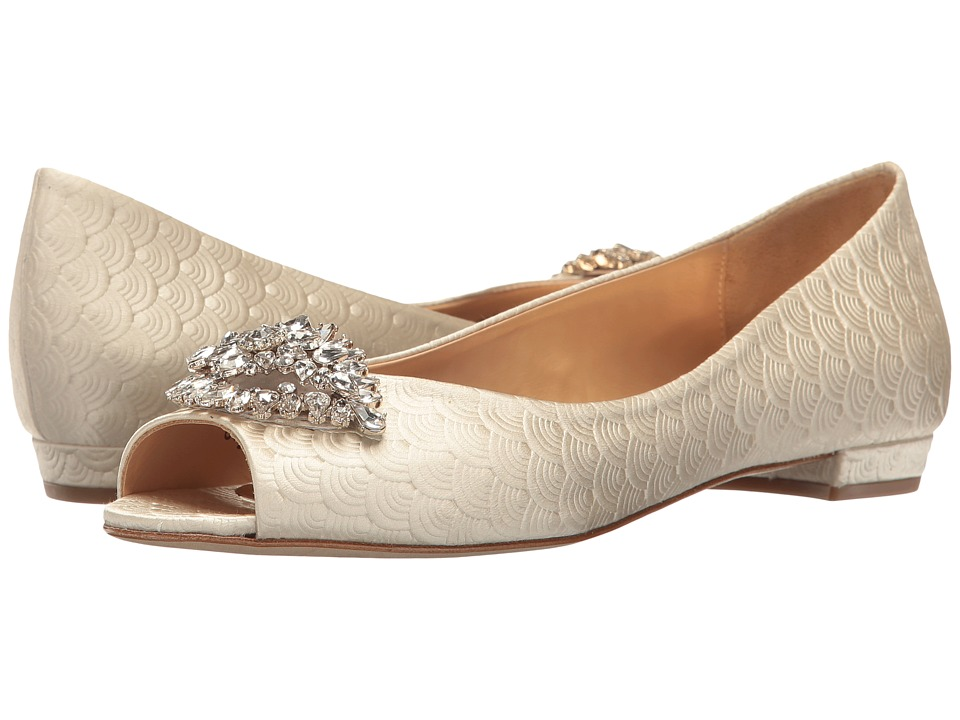 Badgley Mischka Taft (Ivory Embossed Satin) Women