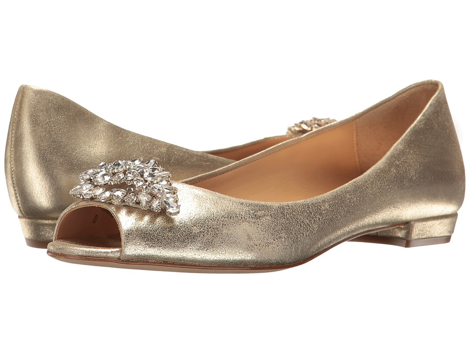 Badgley Mischka Taft (Platino Metallic Suede) Women