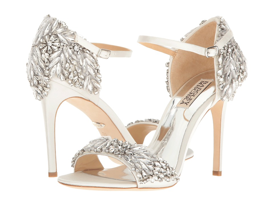 Badgley Mischka Tampa (White Satin) High Heels