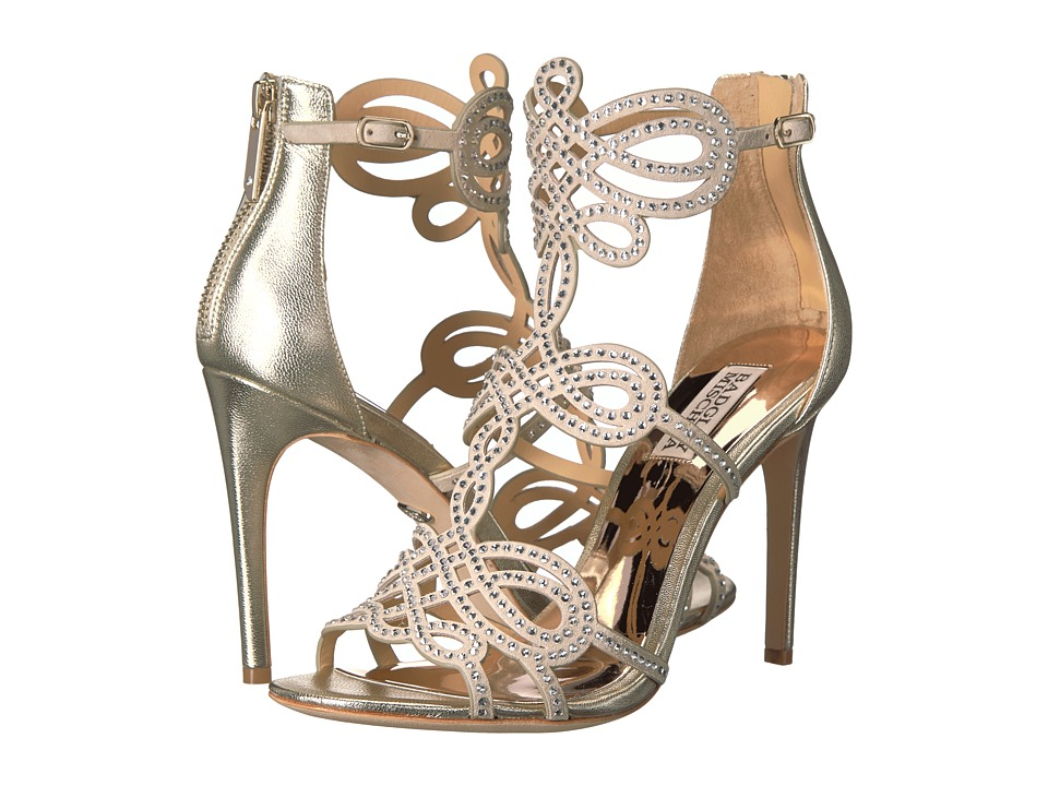 Badgley Mischka Teri (Platino Metallic Suede) High Heels