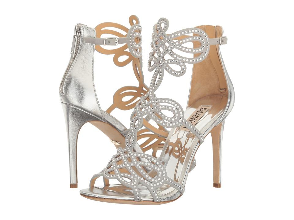 Badgley Mischka Teri (Silver Metallic Suede) High Heels