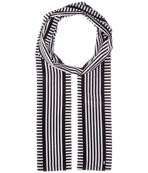 MICHAEL Michael Kors Corsican Stripe Long Skinny Scarf - Navy