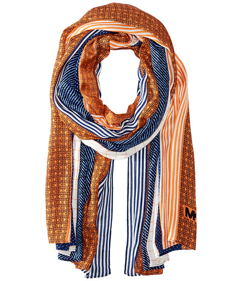 MICHAEL Michael Kors Graphic Patchwork Oblong Scarf - Sapphire/Navy/Mimosa