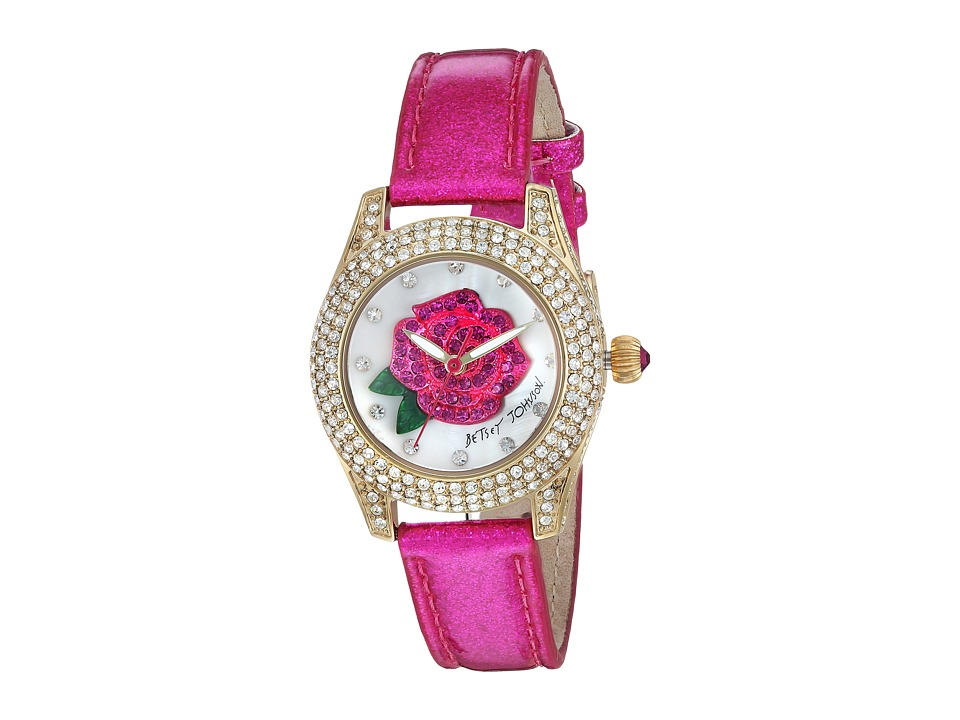 Betsey Johnson - BJ00193-10 - Crystal Bezel (Gold/Pink) Watches