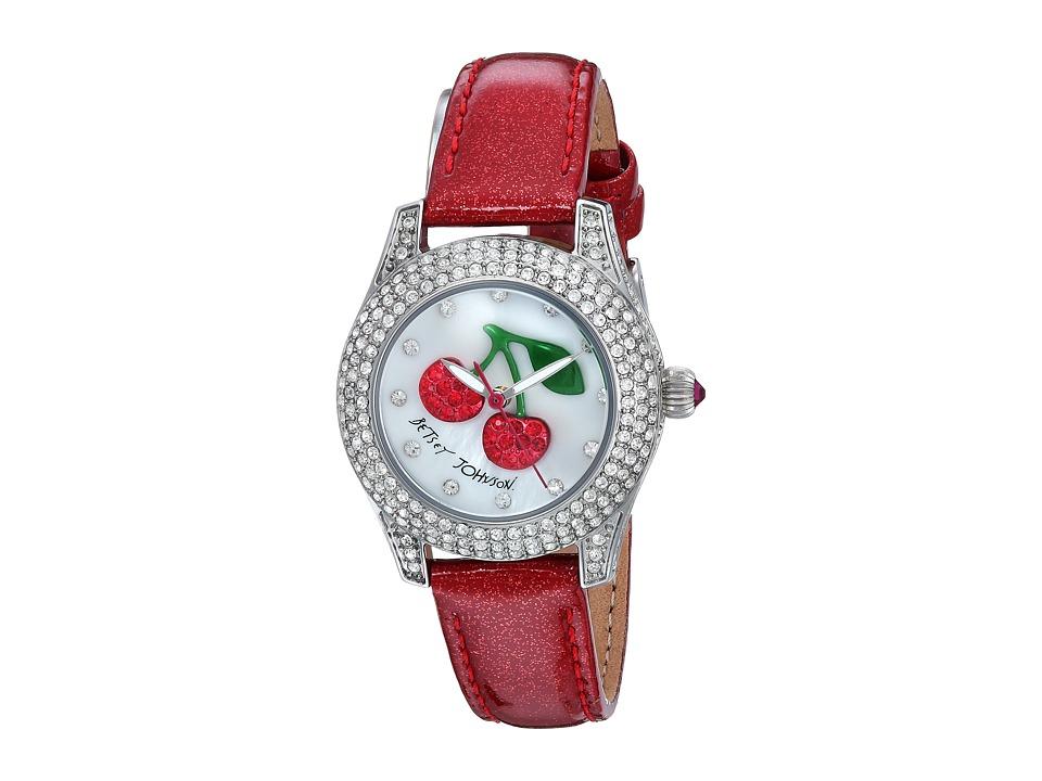 Betsey Johnson - BJ00193-09 - Crystal Bezel (Silver/Cherry) Watches