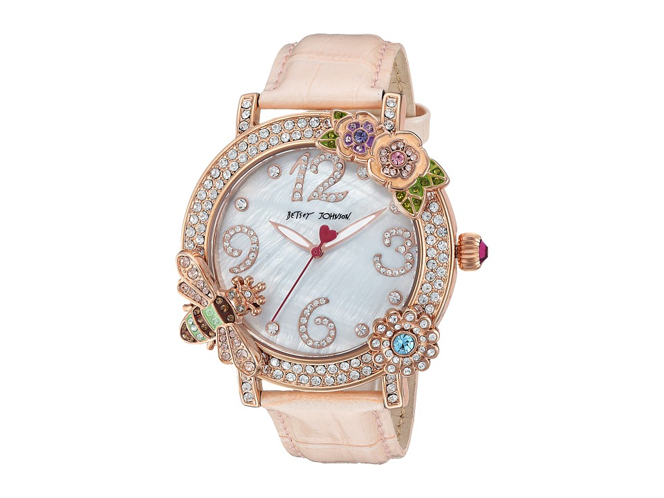 Betsey Johnson - BJ00599-03 - BJ Critters (Gold/Pink) Watches