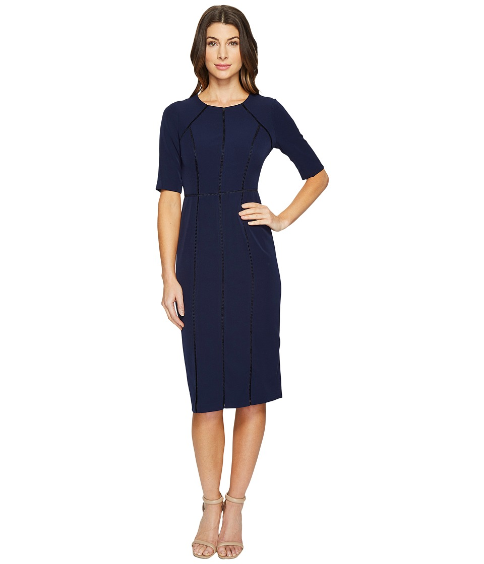 Maggy London Dream Crepe Sheath Dress with Elbow Sleeve (...