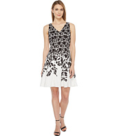 Maggy London - Lace Leaf Border Fit and Flare Dress
