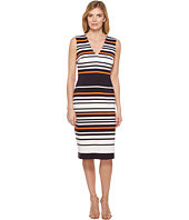 Maggy London - Ottoman Stripe Midi Sheath Dress