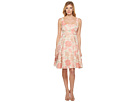 Maggy London - Jacquard Bloom Fit and Flare Dress