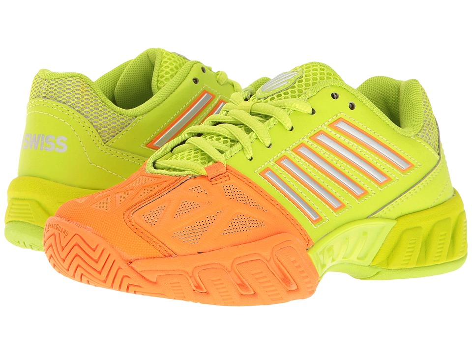 K-Swiss Kids - Bigshot Light 3 (Little Kid/Big Kid) (Orange Popsicle/Lime Punch) Kids Shoes