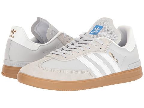 adidas Skateboarding Samba ADV - Light Grey Heather Solid Grey/Footwear White/Bluebird