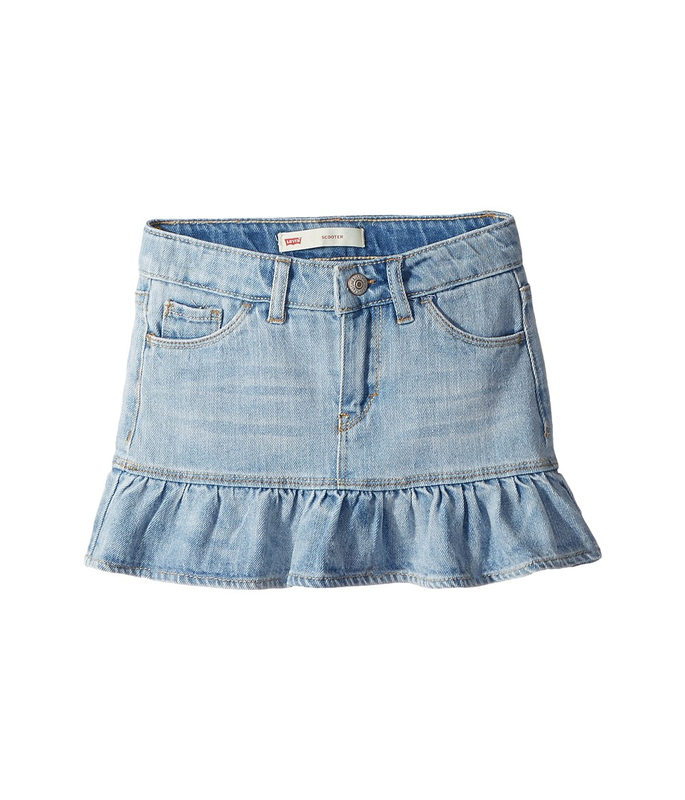Levis(r) Kids - Alessandra Scooter Skirt (Little Kids) (Bleach Out) Girls Skort
