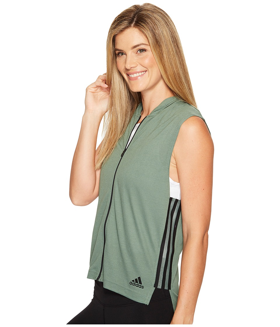 adidas - Show Your Stripes Sleeveless Hoodie