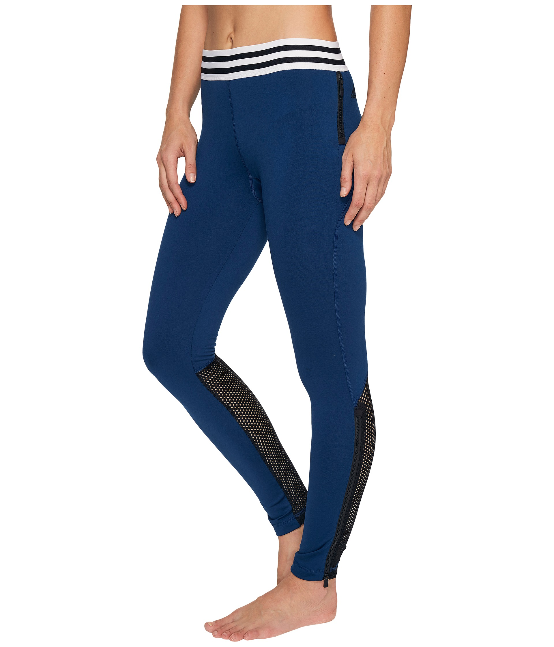adidas sport id zipper leggings free shipping both ways. Black Bedroom Furniture Sets. Home Design Ideas